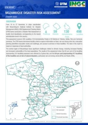 Mozambique – Disaster Risk Assessment (January 2020)