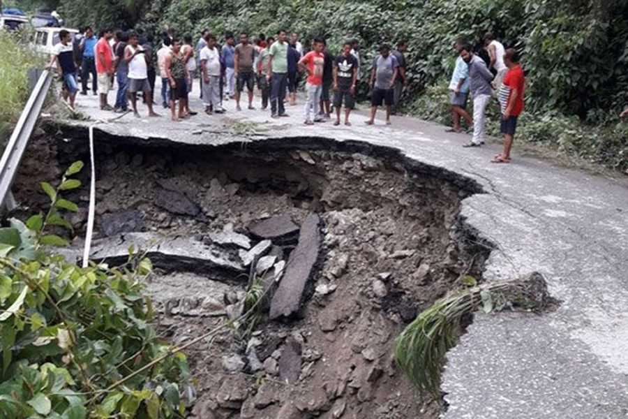 Constant downpour causes massive landslide in North Sikkim and flood-like situations in North Bengal