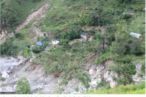 Nepal Floods destructions